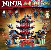 Wholesale Toy 737 - Ninja Temple of Airjitzu Ninjagoes Smaller Version Bozhi 737 pcs Blocks Set Compatible with Legoe Toys for Kids Building Bricks