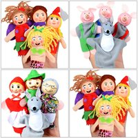 Wholesale Early Childhood - 2017 Fairy Tale Finger Toy Finger Puppets Cartoon Character Early Childhood Education Children Funny Plush Toys