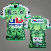 Wholesale Raiders Shirt L - Free Shipping New Zealand RAIDER ADULT NRL Men Rugby Jersey Super Rugby 2017 Oakland home RAIDERDSD rugby shirt