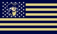 <b>George Washington</b> Colonials Flag 90 x 150 cm poliestere NCAA a stelle e strisce della bandiera