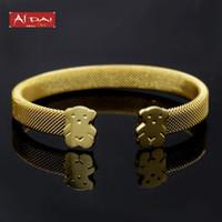 Wholesale Mesh Bracelets China - American jewelry wholesale stainless steel bracelet titanium mesh bracelet gold bear cubs titanium jewelry
