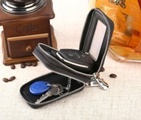 Wholesale Coffee Holder Bags - New Genuine leather car key wallet Alligator double layer zipper purse men @women fashion bag black coffee rose red color no167