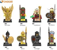 Wholesale Aztec Plastic - X0163 Super Heroes Pharaoh Atlantis Mummy Viking Egyptian Aztec Warrior Barbarian Building Blocks Baby Toys