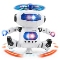 Wholesale Led Toys Wholesale China - Electric Toys Dance Rotating Robot with LED Lights Music Explosion Intelligence Toy with Battery Powered Direct Shenzhen China Wholesales