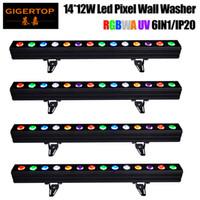 Wholesale Led Tube Housing - Gigertop 4 Unit Stage Event RGBWAP LED Tube DMX Addressable 14X12W Tyanshine 6IN1 LED Linear Tube Narrow Bar Aluminum Housing TP-WP1412B