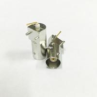 Wholesale Gold Hifi Connectors - 10Pcs\Lot Freeshipping Q9 3 Foot Horizontal BNC Female Socket Weld Socket PCB board RF Connector