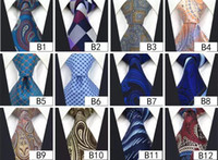 Wholesale Assorted Tie Wedding - Wholesale Assorted Mens Tie Neckties Silk Fashion Classic Handmade Wedding High Quality Paisley Stripes Plaids Dots free shipping