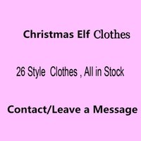 Wholesale Doll Toys Clothes - Free DHL 26 Style Elf Doll clothes Christmas Elf Plush toys On The Shelf Elves Xmas dolls clothes For Kids Holiday And Christmas Gift