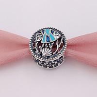 925 gemischte pandora charms großhandel-925 Sterling Silber Perlen Ocean Life Gemischte Emaille Bunt Charms Passt Europäischen Pandora Style Schmuck Armbänder Halskette
