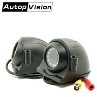Wholesale Night Vision Mini Reverse Camera - AV-781B AHD Mini Fixed IR Night Vision Car Security CameraBus Camera Cable For Reversing Camera Systems DVR Quad Monitor Camera AT