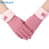 Wholesale Delicate Fingerless Gloves - Wholesale- WOMAIL delicate guantes calientes Womens elegant high quality Invierno Click Screen Winter Warm Gloves luvas quentes W25