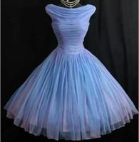 imágenes de stock vintage al por mayor-Los años 1950 de los años 50 La dama de honor de la vendimia viste Lavende Imagen Real Corto Prom Vestidos Vestidos de fiesta Vestidos de regreso a casa vestidos para fiesta Envío gratis