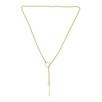 Wholesale Gold Chains New Designs - New Fashion Necklace Jewelry Gold Silver Plated Long Chain Necklaces and Latest Design Y-Necklaces for Women