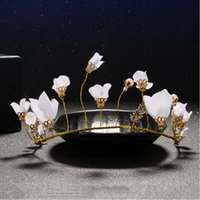 Wholesale Mori Wedding - 2017 Vintage New Hair Bridal Hats Flower Crown Handmade for Brides Wedding Accessories Mori Girl grace