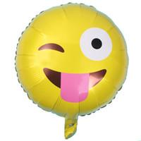 acryl schnuller charme großhandel-Ballons Emoji Folie Helium Aluminium Ballons Party Dekoration Aufblasbare Hochzeit Ballon Urlaub Geburtstag Graduation Hochzeit Spielzeug
