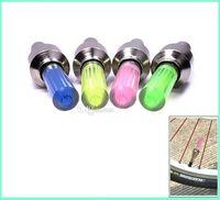 Wholesale Neon Lights For Motorcycles - 500pcs Firefly Spoke LED Wheel Valve Stem Cap Tire Motion Neon Light Lamp For Bike Bicycle Car Motorcycle