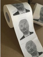 Wholesale Toilet Paper Print - Creative Toilet Paper with Donald Trump Photo Printing Gag Gifts 3 layer Toilet Paper with USA President Drawing