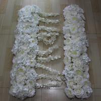 ingrosso fiori artificiali chiari viola-Nuovi fiori arco di simulazione di seta rosa ortensia peonia fiore decorazioni da tavola, matrimonio strada piombo fiore 10 pz / lotto