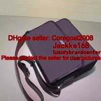 Wholesale Top Mens Business Briefcases - black canvas leather trim TOP quality mens shoulder MESSENGER bag big Cross Body Satchel business briefcase laptop 233052 36CM 223665 387074