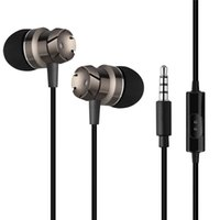 Wholesale Mega Bass Earphone - Earphones new arrival metal mega bass in ear earphone stereo headsets with mic earbuds noise cancelling headphones for sony samsung