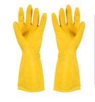 Wholesale High Quality Practical Winter Warm Kitchen Wash Dishes Cleaning Waterproof Long Sleeve Rubber Latex Gloves Tool Laundry Housework gloves