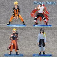 Wholesale Neji Figure - NEW Naruto Naruto Uzumaki Naruto Killer Bee Hyuuga Neji PVC Action Figure Collectible Model Gift Baby Toys 4pcs set CSHC17