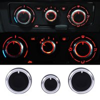 Wholesale vw switches resale online - 3PCS Set Heater Dash A C Switch Knobs Black Control Buttons for VW for Golf MK4 Passat B5 Bora