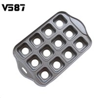 Wholesale Mini Loaf - Wholesale- Nonstick Muffin Pan Cake Mold Carbon Steel Cheesecake Mini Round Shape Drop Bottom Mould 12 Cups Loaf Bakeware DIY Tool