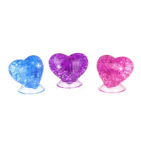Wholesale Crystal Building Models - Wholesale-Coolplay 3D Crystal Puzzle Love Shaped Model Puzzle Kids Toys DIY Building for Children Puzzles Educational Toys