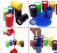 Wholesale Oil Express - Funny Express Toys Noise Putty Assortment Barrel Oil Slime Fake Paint Bucket slimy novelty toys