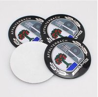 Wholesale Stickers For Car Wheels - AMG Tree High Quality 56.5mm Aluminum alloy Sticker emblem badge    AMG for mercedes Car Wheel centre cover