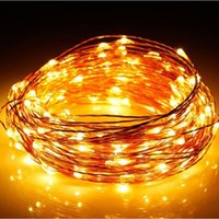 33ft / 10m 100pcs leds Solar LED String Fairy Light, Waterproof Copper Wire Lights com painel solar para o casamento do partido, Patio Garden Christmas