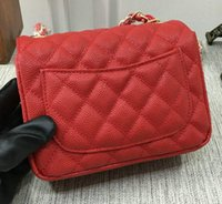 Wholesale ladies sequined tops - Top Quality Quilted Chain Single Flap 17CM Mini Shoulder Bag Handbag Cluch Bag