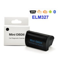 Wholesale Elm327 Fiat - Super MINI ELM327 Bluetooth OBD OBD2 Latest Version V2.1 MINI OBDII ELM 327 For Android Torque PC Retail Box Pack