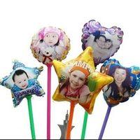 kostenlose hochzeitswerbung großhandel-Digital-Fotodruck Hochzeitsdekoration Partei liefert Folienballone Kundengebundener Logowerbungsballon geben Verschiffen frei
