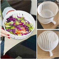 Wholesale Easy Chopper - 60 Second Salad Cutter Bowl Easy Salad Fruit Vegetable Chopper Washer And Cutter Quick Salad Maker Chopper 60pcs OOA1392