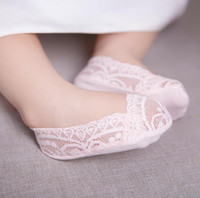Wholesale Ankle Sock Baby Slip - Baby Kids Lace Socks Girls Princess Ankle Socks Children Cotton Sock Foot Cover Silicon Bottom Anti Slip Babies Socks 5 Colors 12574