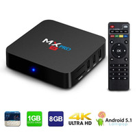 Wholesale Pc Mkv - MX Pro Android 5.1 Smart Tv Box 1GB DDR3 8GB Rom 4K Amlogic S905 64Bits Super HD Mini PC Media Streaming Player with WIFI HDMI DLAN Cable Be