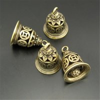 Wholesale Pendant Gold Findings - Wholesale- GraceAngie 03753 Antiqued Bronze Tone Vintage Alloy Ancient Coin Bell Fashion Jewelry Finding Pendant Charms 10PC