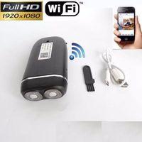 ingrosso reti audio-WIFI Shaver Telecamera IP 1080P mini video registratore audio wireless Real Electric Razor DVR telecamera pinhole video P2P Network Cam dropshipping