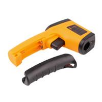infrared lazer nokta termometre toptan satış-Yeni Lazer LCD Dijital IR Kızılötesi Termometre GM320 Sıcaklık Ölçer Gun Noktası-50 ~ 380 Derece Temassız Termometre