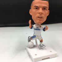 Wholesale Mini Plastic Fan - Soccerwe Real Madrid 2016-17 Season Football Star 7 Cristiano ronaldo activity Doll La Liga Fans Collections White Color 2.55 Inches Resin