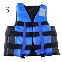 Wholesale New Polyester Adult Life Vest Jacket Universal Swimming Boating Ski Drifting Foam Vest with Whistle Prevention S XXL Sizes