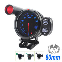 "Wholesale Gauges Peak - 3.15"" 80mm DEFI Tachometer STEPPER MOTOR BF BLUE LED RPM GAUGE WITH PEAK AND WARNING AUTO GAUGE universal fitment stock ready to ship"