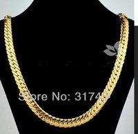 """Wholesale Gold Filled Herringbone Necklace - FINE THICK HEAVY WOCHAIN retails Massive 18k Yellow Gold Filled Filled Necklace 24"""" 10mm 85g Herringbone Chain Mens Necklace GF Jewelry"""