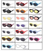 Wholesale Kurt Cobain Nirvana - Clout Goggles NIRVANA Kurt Cobain Glasses Classic Vintage Retro Oval Sunglasses Shades Sun Glasses Punk Rock Unisex Women Men