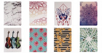 Barato Porta-caixas Para Galaxy S3-Para Apple iPad Pro 9.7 2017, Galaxy guia S3 T820 Folhas Lace Marble Flower Guitar PU Leather Wallet Stand Holder Card Pouch Case Tablet Covers