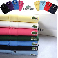 Wholesale Polo Down - New 2017 Brand POLO Shirt Men Cotton Fashion High Quality Crocodile Embroidery Polo Summer Short-sleeve Casual Shirts breathable polo shirt