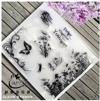 Wholesale Decorative Stamps - Wholesale- Mermaid Transparent Clear Silicone Stamp Seal for DIY scrapbooking photo album Decorative clear stamp sheets
