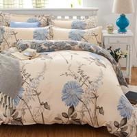 Wholesale full flat sheets - Wholesale-High Quality Promotion Sale CVC Bed set Bedding sets Duvet Cover Flat Sheets Pillowcase